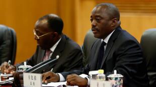 Le président congolais Joseph Kabila lors d'un déplacement à Pékin, le 4 septembre 2015.
