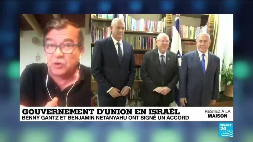 2020-04-21 10:10 Gouvernement d'union en Israël : Benny Gantz et Benjamin Netanyahu ont signé un accord