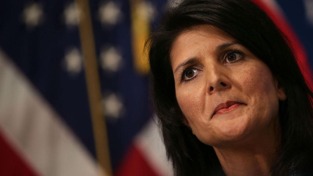 حاكمة كارولاينا الشمالية نيكي هالي التي اختارها ترامب سفيرة في الأمم المتحدة