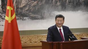 Le président chinois Xi Jinping lors d'un discours à Pékin, le 25 octobre 2017.