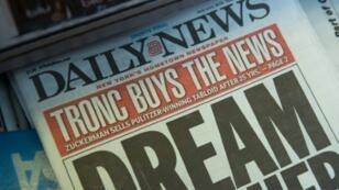 """La """"une"""" du New York Daily News, le 5 septembre 2017"""