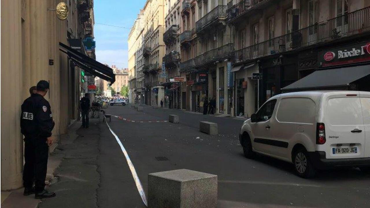 شارع فيكتور هوغو في مدينة ليون الذي وقع فيه الانفجار
