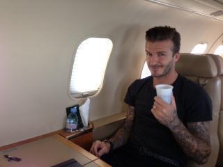 Une photo postée par David Beckham quelques heures avant son arrivée à Paris