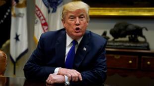 Donald Trump en su despacho de la Casa Blanca el 28 de noviembre de 2017.