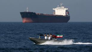 Une partrouille maritime iranienne dans le détroit d'Ormuz, le 30 avril 2019.