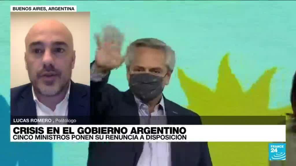 """2021-09-16 03:02 Lucas Romero: """"El sector liderado por Cristina Fernández pide cambios y el presidente se resiste"""""""