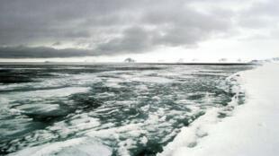 Une partie de l'océan glacial Arctique au Canada.