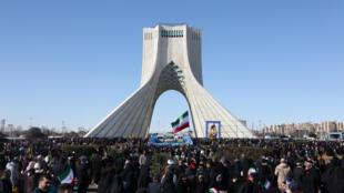 Des manifestants ont célébré le 41e anniversaire de la République islamique iranienne à Téhéran, le 11 février 2020.