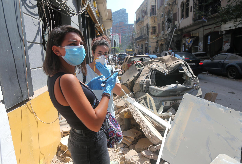 Las áreas afectadas por la explosión en Beirut estarán exentas de las nuevas medidas de restricción por el Covid-19 en Líbano.