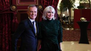 Le ministre de l'Écologie François deRugy et son épouse Séverine deRugy, à Paris, le 24janvier2019.
