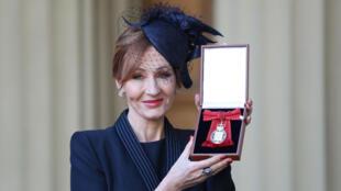 L'écrivaine J.K. Rowling à Londres en décembre 2017