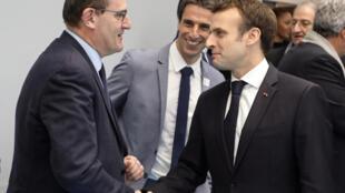 Le président Emmanuel Macron et Jean Castex, désormais Premier ministre, le 9 janvier 2019 à Créteil