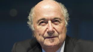 Le très contesté Joseph Blatter, inamovible président de la Fifa.