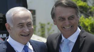 """Benjamin Netanyahou et le président élu du Brésil Jair Bolsonaro ont célébré, le 29 décembre, à Rio de Janeiro, le début d'une nouvelle """"fraternité""""."""