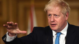 British Prime Minister Boris Johnson speaking in London, UK on October 16, 2020.
