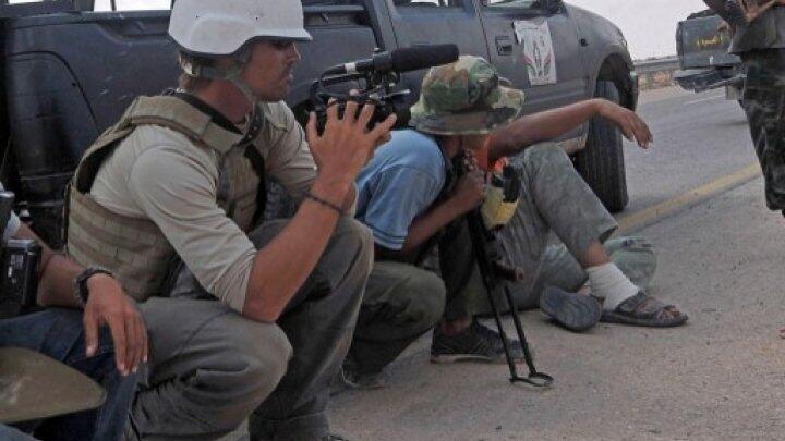 James Foley à Syrte, en Libye, en septembre 2011