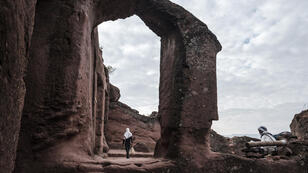 L'église orthodoxe Saint Mercurius à Lalibela, en Éthiopie, le 7mars2019.