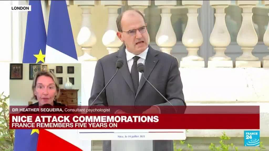 2021-07-14 17:00 Nice attack commemorations: Prime Minister Jean Castex in the city for a ceremony