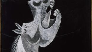 """""""Étude pour Guernica (Tête de cheval)"""" de Pablo Picasso (Paris, 2 mai 1937)"""