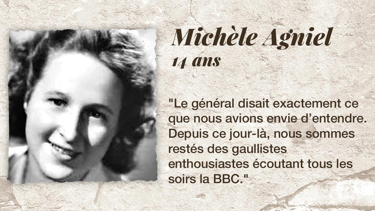 La résistante Michèle Agniel.