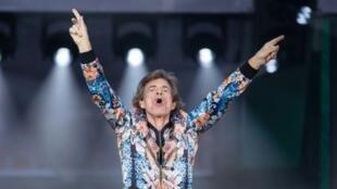 Mick Jagger en concert à Stuttgart, dans le sud de l'Allemagne, le 30 juin 2018