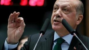 الرئيس التركي رجب طيب أردوغان في صورة ملتقطة في 5 كانون الأول/ديسمبر 2017 في أنقرة.