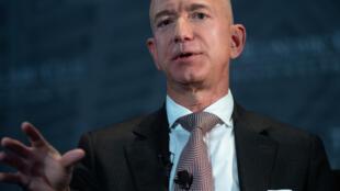 Le patron d'Amazon Jeff Bezos, le 13 septembre 2018 à Washington