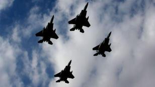 سرب من الطائرات الحربية التابعة لسلاح الجو السعودي
