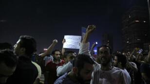 Des manifestants demandant la démission du président Sissi dans les rues du Caire, le 20 septembre 2019.