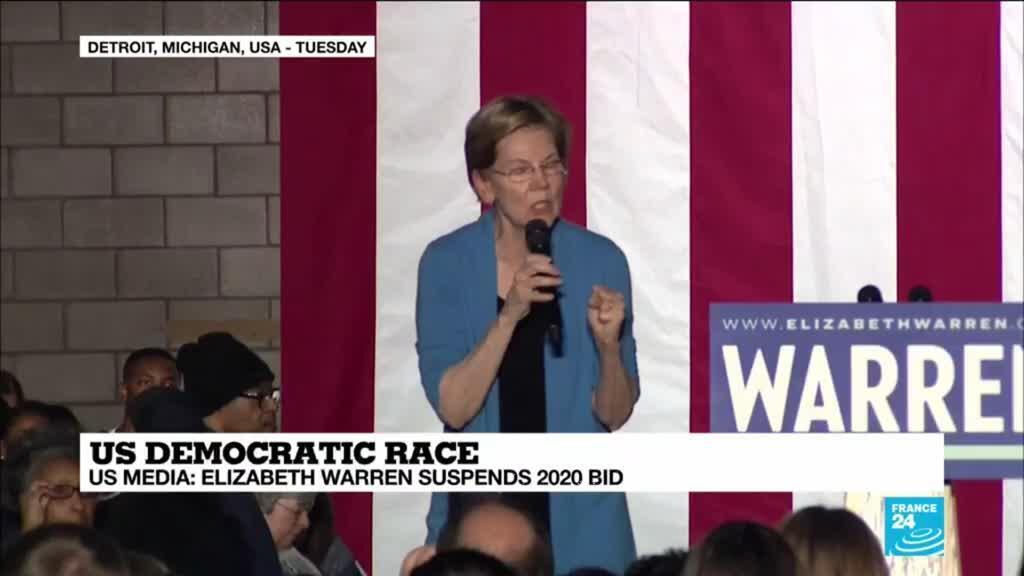 2020-03-05 17:01 US Democratic race: Elizabeth Warren suspends 2020 bid according to US media