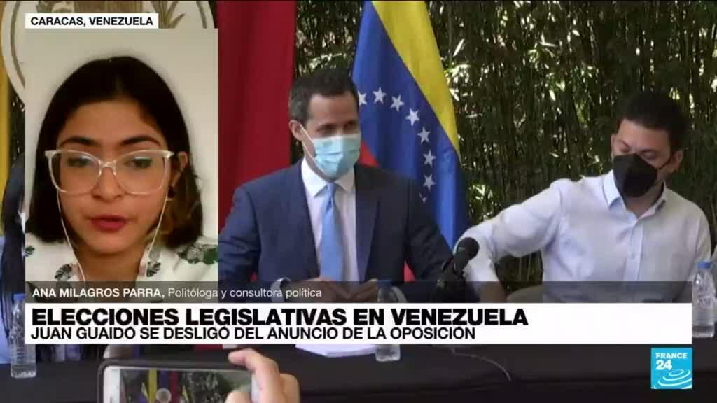 """2021-09-01 14:06 Ana Milagros Parra: """"No se ha confirmado si Juan Guaidó participará de las elecciones venezolanas"""""""