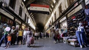 Le souk de Damas, en juin 2016.