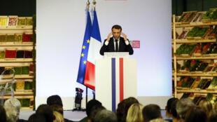 Emmanuel Macron a dévoilé sa vision pour le monde agricole à Rungis, mercredi 11 octobre