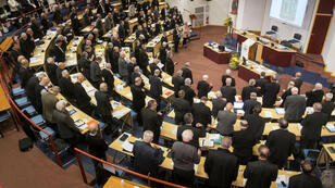 La Conférence des évêques de France à Lourdes, le 3 novembre 2018.