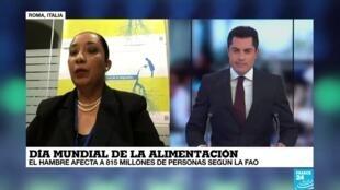 Guadalupe Valdez, Embajadora Especial del programa de la ONU, Hambre Cero para América Latina y el Caribe. Entrevista con France 24.