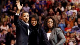 Oprah Winfrey fue una de las principales recaudadoras de fondos en apoyo a la campaña presidencial del demócrata Barack Obama entre 2006 y 2008. Archivo