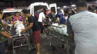 جثث الأشخاص الستة الذين قتلوا في هجوم مسلح بمقاطعة يالا، 6 نوفمبر/ تشرين الثاني 2019