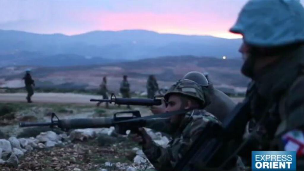 Soldats libanais et français lors d'un stage d'entraînement.