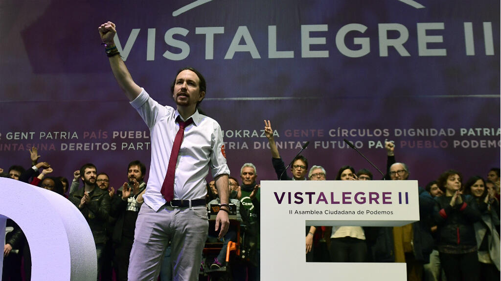 89 % des militants ont reconduit Pablo Iglesias à la tête de Podemos.
