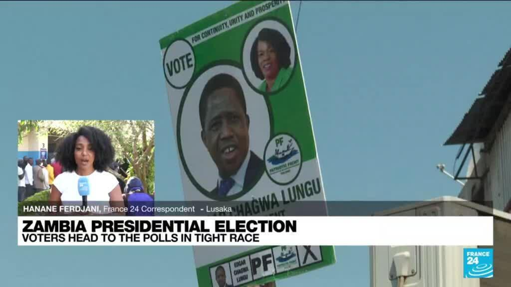 2021-08-12 09:06 Zambians vote in presidential election seen as too close to call