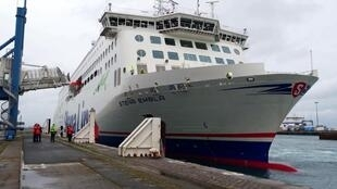 Stena Embla cargo ship in Dublin