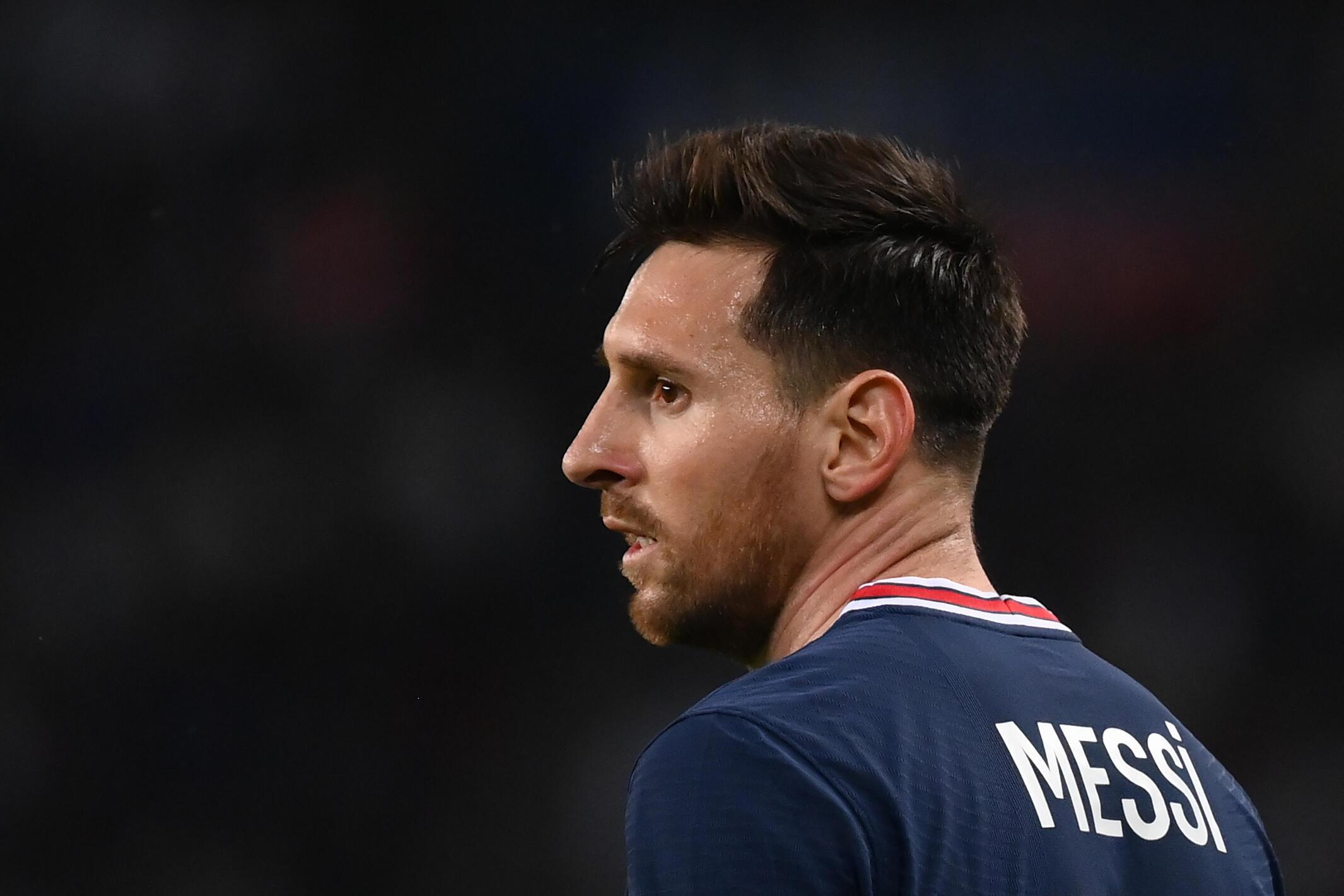 L'attaquant argentin du Paris Saint-Germain, Lionel Messi, lors du match de Ligue à domicile contre Lyon, le 19 septembre 2021 au Parc des Princes