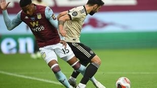 Aston Villa's Ezri Konsa conceded a penalty for his challenge on Manchester United's Bruno Fernandes
