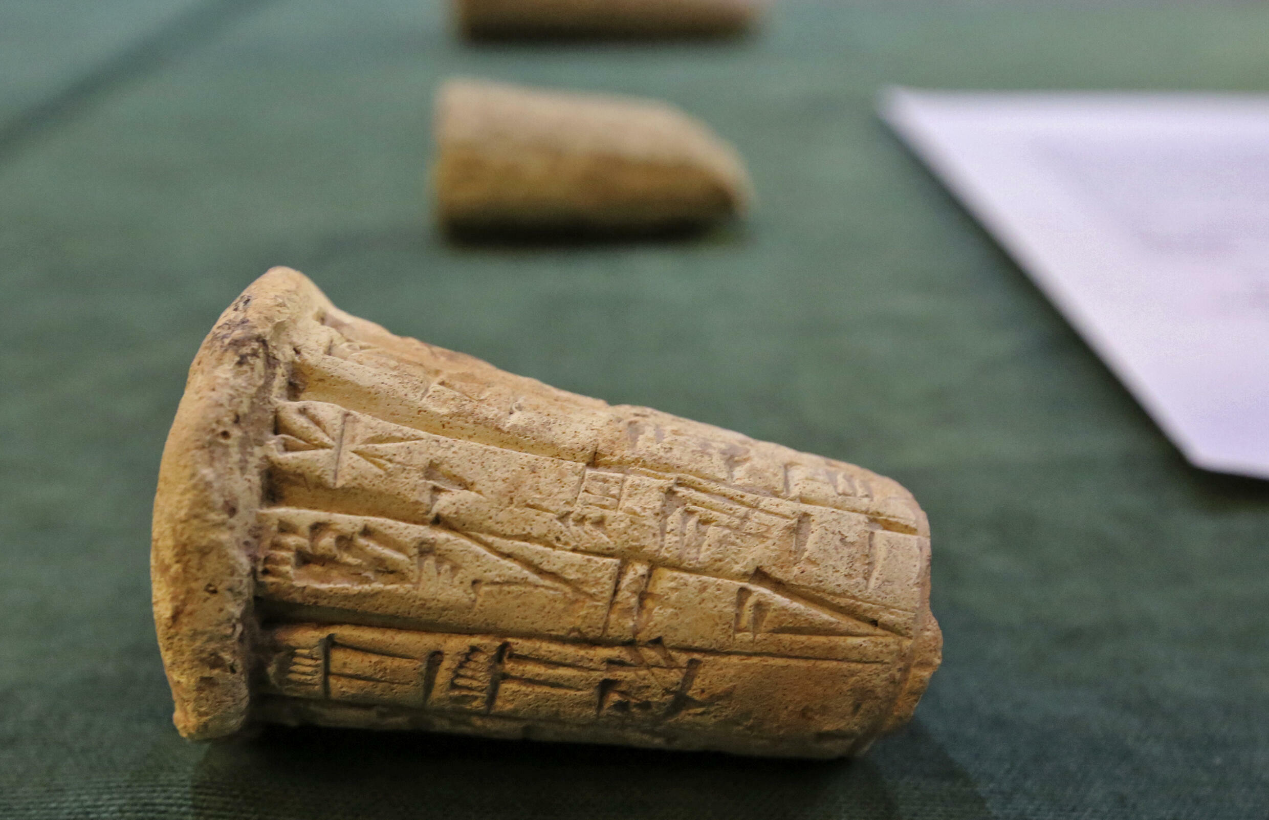 Mesopotamian clay cones were part of a treasure trove of looted antiques returned to Iraq by the United States earlier this month