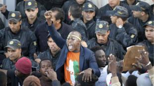 احتجاج جالية ساحل العاج في تونس
