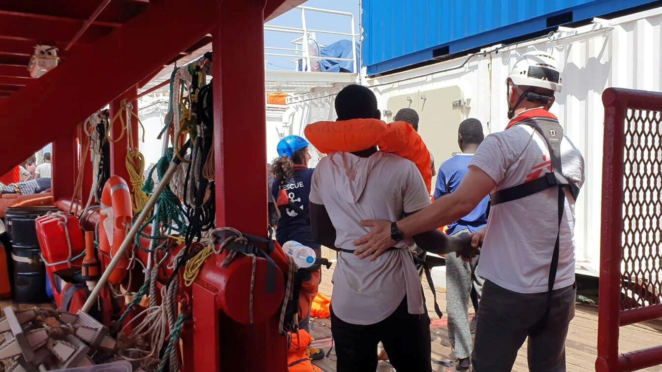 Imagen de archivo a bordo del barco de la ONG Ocean Viking. 12 de agosto de 2019.