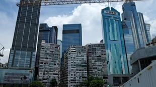 Imagen de una obra en construcción tomada el 29 de julio de 2020 en Hong Kong