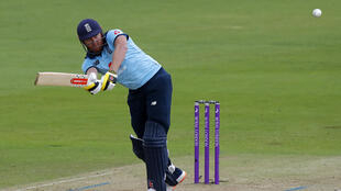 Quickfire fifty - England's Jonny Bairstow hits out during the second One-Day International against Ireland at the Ageas Bowl in Southampton, on Saturday