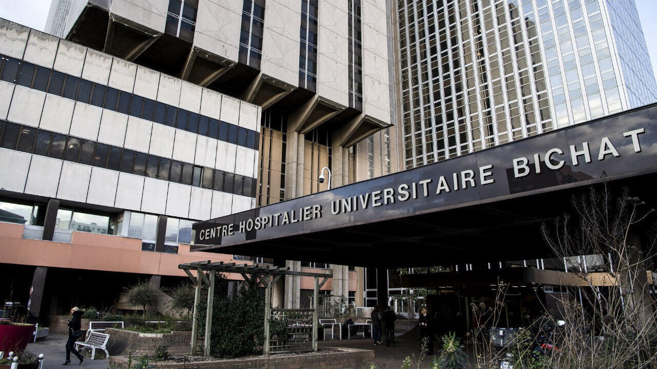 A general view of the Bichat hospital in Paris on January 29, 2020, where some of the patients infected with the coronavirus in France are being treated.