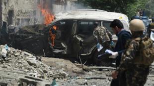 Un attentat-suicide à Kaboul contre les soldats de l'Otan, le 7 juillet 2015.